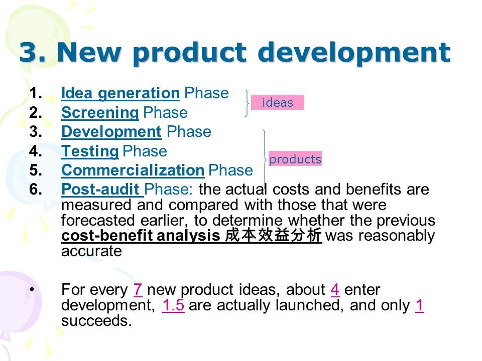3. New product development