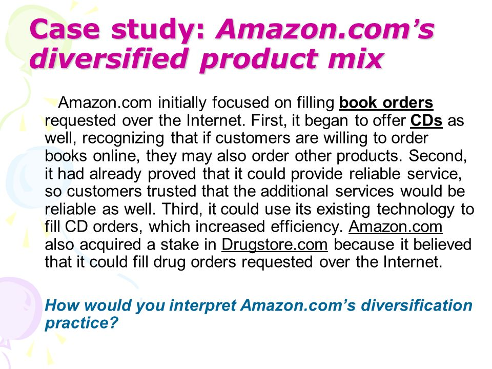 Case study: Amazon.com's diversified product mix
