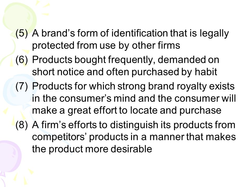 A brand's form of identification that is legally protected from use by other firms