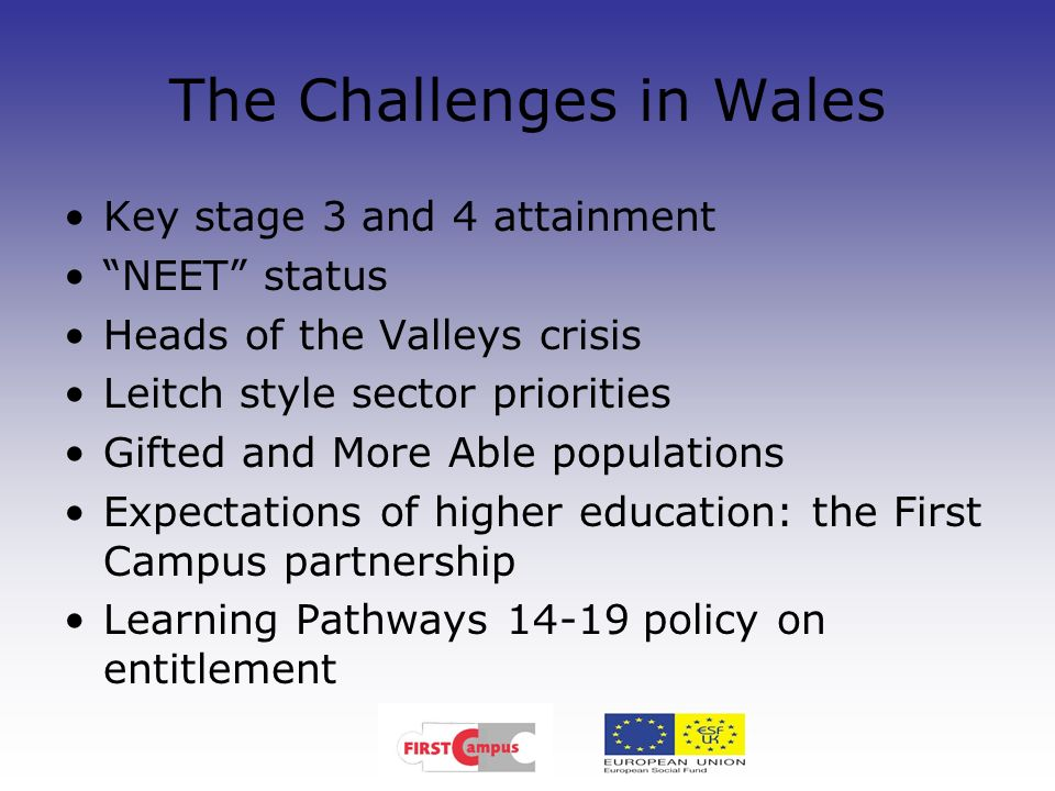 The Challenges in Wales