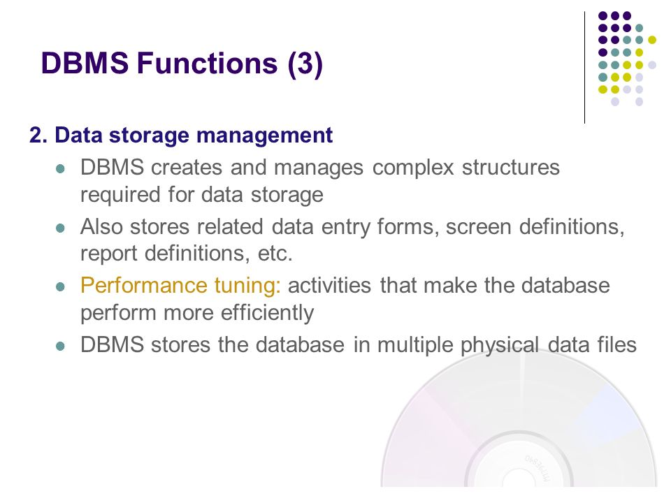 data storage in dbms The types are matched to the closest data type available in the dbms  the following table lists data types, their ranges, and storage requirements.