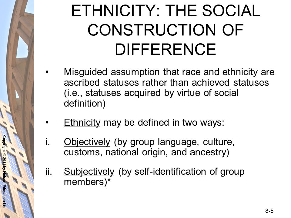 the social construction of race ethnicity in The construction and representation of race and ethnicity in the and evolution of the categories of race and ethnicity have long been topics of debate among historians and scholars of social this book clarifies a lot of doubts about race, ethnicity, construction of otherness.