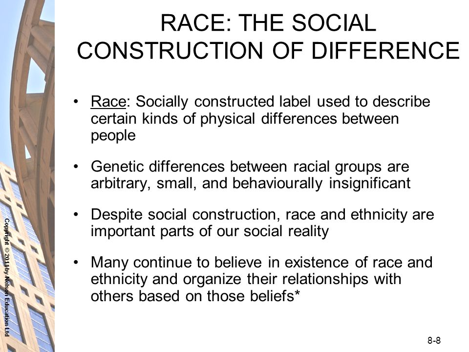 social build about race