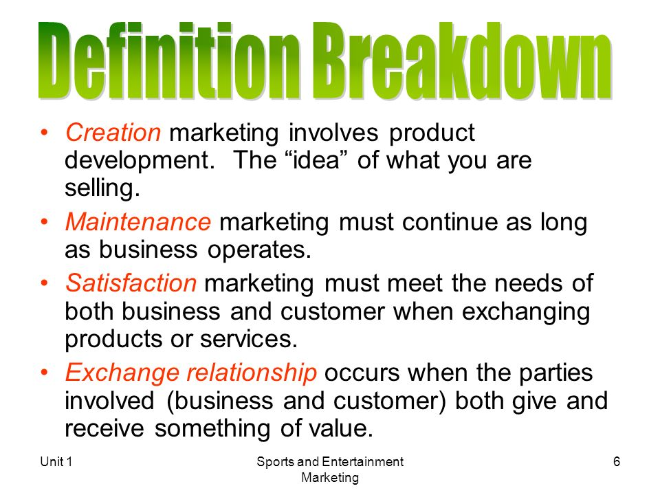 q 1 marketing involves satisfaction of consumer needs' Chapter 7—the marketing plan true/false 1 small business marketing is best defined as the performance of distribution activities that affect the flow of goods and.