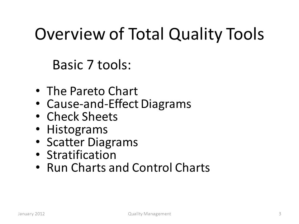 tools of total quality management
