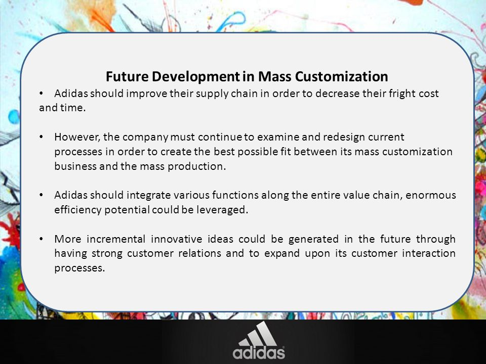 the definition of mass customization and the challenges of adidas