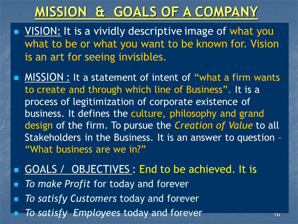Toyota mission vision goals objectives