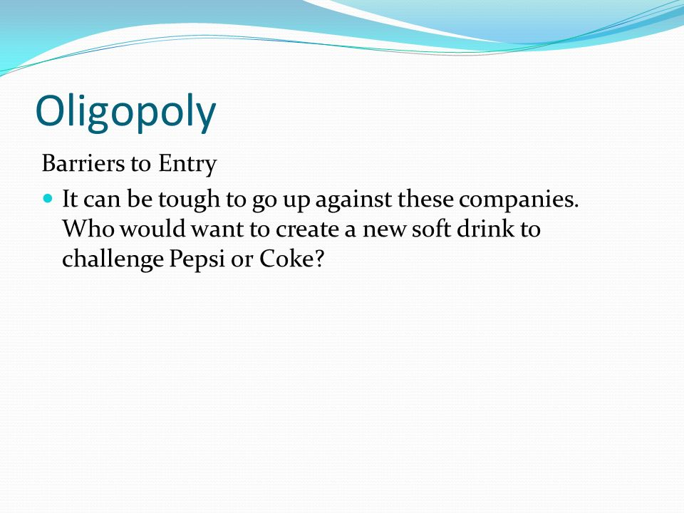 coke and pepsi and price war and oligopoly Coca cola uses lower price point to penetrate new markets that are especially sensitive to price  how values influence consumer's coke choice coca cola .