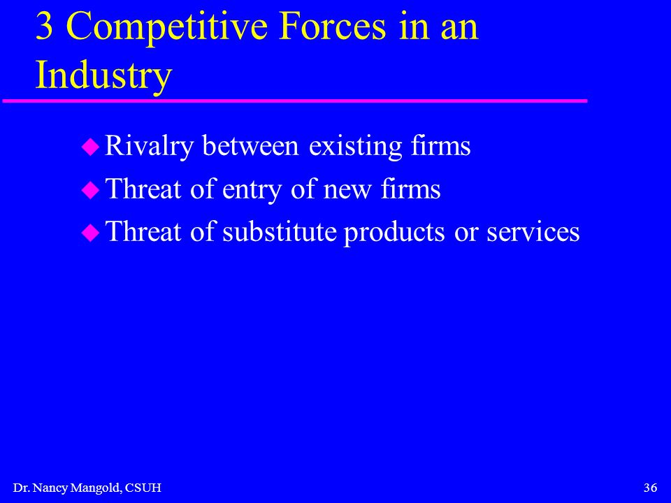 manufacturing and service sector hypercompetitive rivalries D'aveni's 7s framework is richard d'aveni's approach to directing a firm in a high velocity or hypercompetitive markets it is designed to enable firms sustain the momentum of their competitiveness through a series of initiatives that are poised to give temporary advantages rather than just structuring the firm to achieve internal or external .