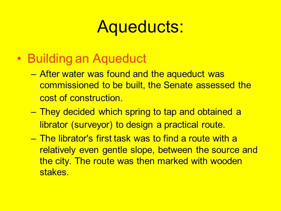Aqueducts: Building an Aqueduct