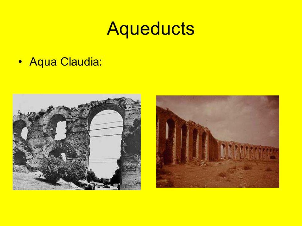 Aqueducts Aqua Claudia: