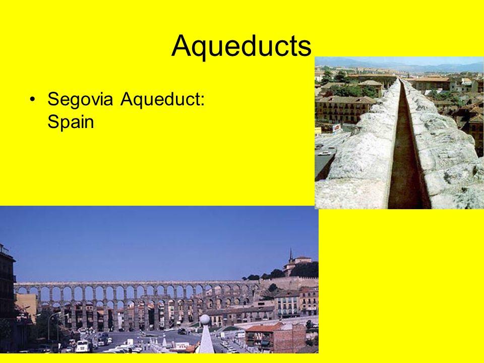 Aqueducts Segovia Aqueduct: Spain