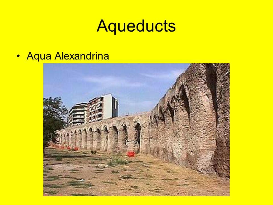 Aqueducts Aqua Alexandrina