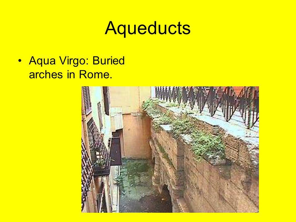 Aqueducts Aqua Virgo: Buried arches in Rome.