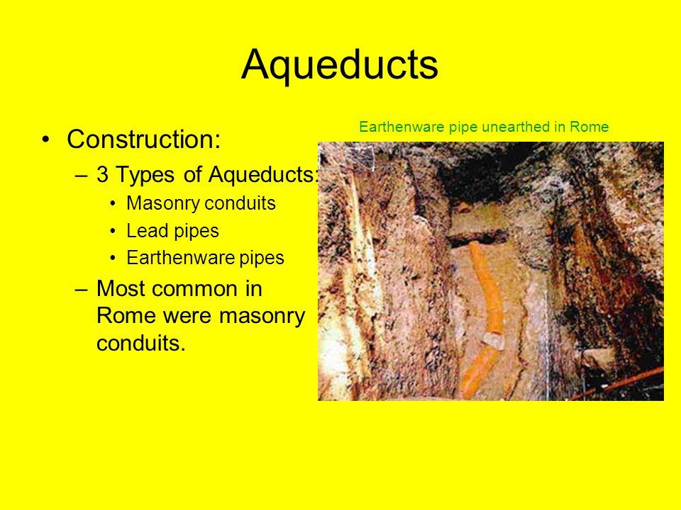 Aqueducts Construction: 3 Types of Aqueducts: