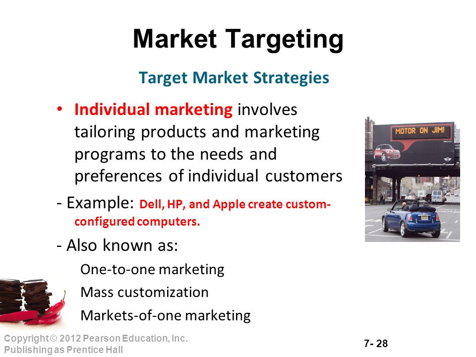 Market targeting strategy examples.