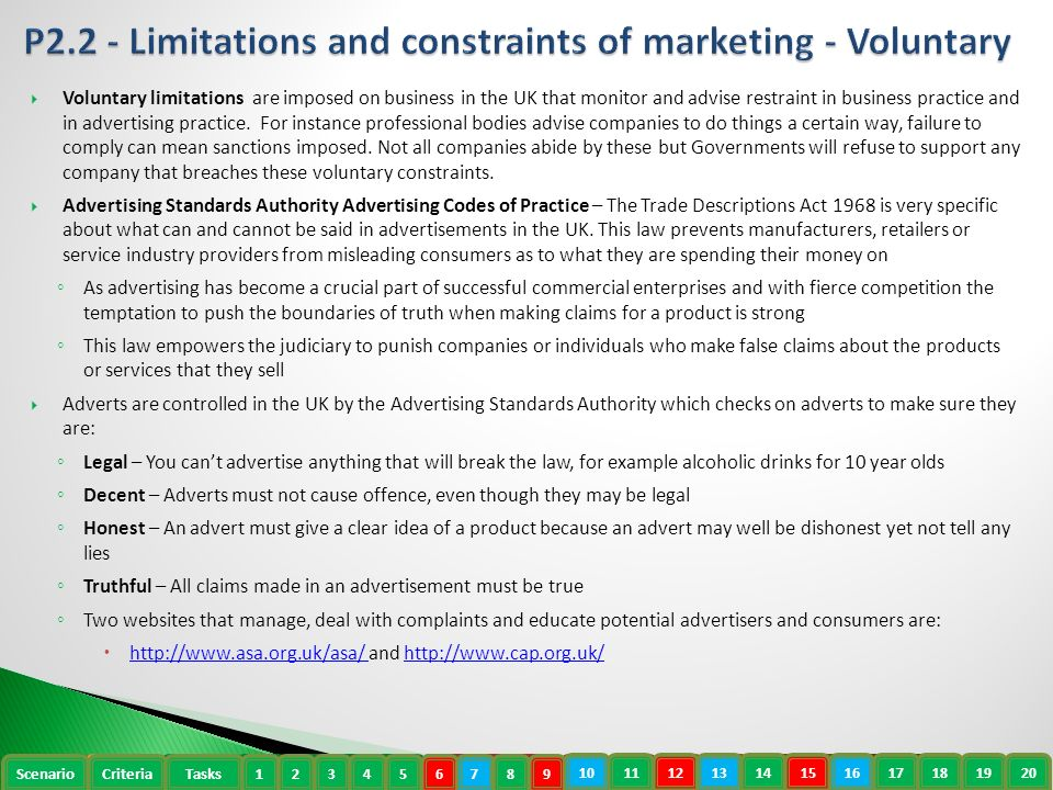 limitations and constraints under which marketing Describe the limitations and constraints of marketing essay sample for this task i will be talking about the how different legal policies can cause problems for different companies and make them have to do things in different ways as to what they would have originally liked to.