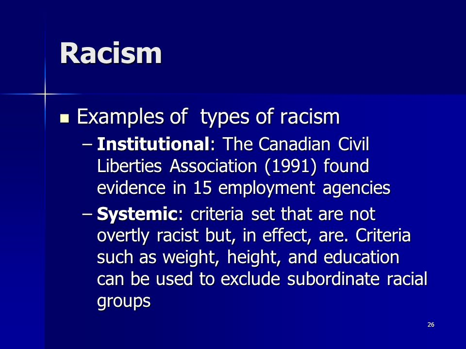 Examples Of Racism Homework Writing Service