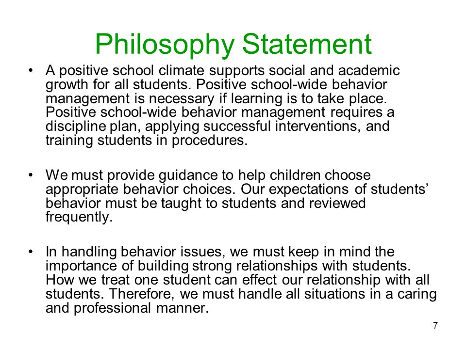 How to Write a Classroom Management Philosophy