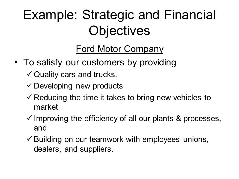 financial objectives and strategic objectives Learn about our financial objectives for the current financial year.