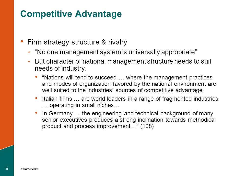 what national sources of competitive advantage Porter introduced the diamond model of national competitive advantage competitive industries take the and that this is a source of competitive advantage.