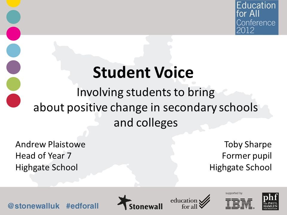 Student Voice Involving students to bring