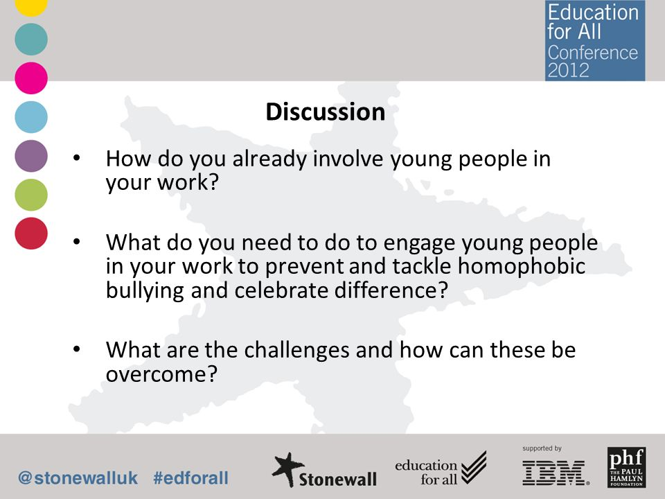 Discussion How do you already involve young people in your work