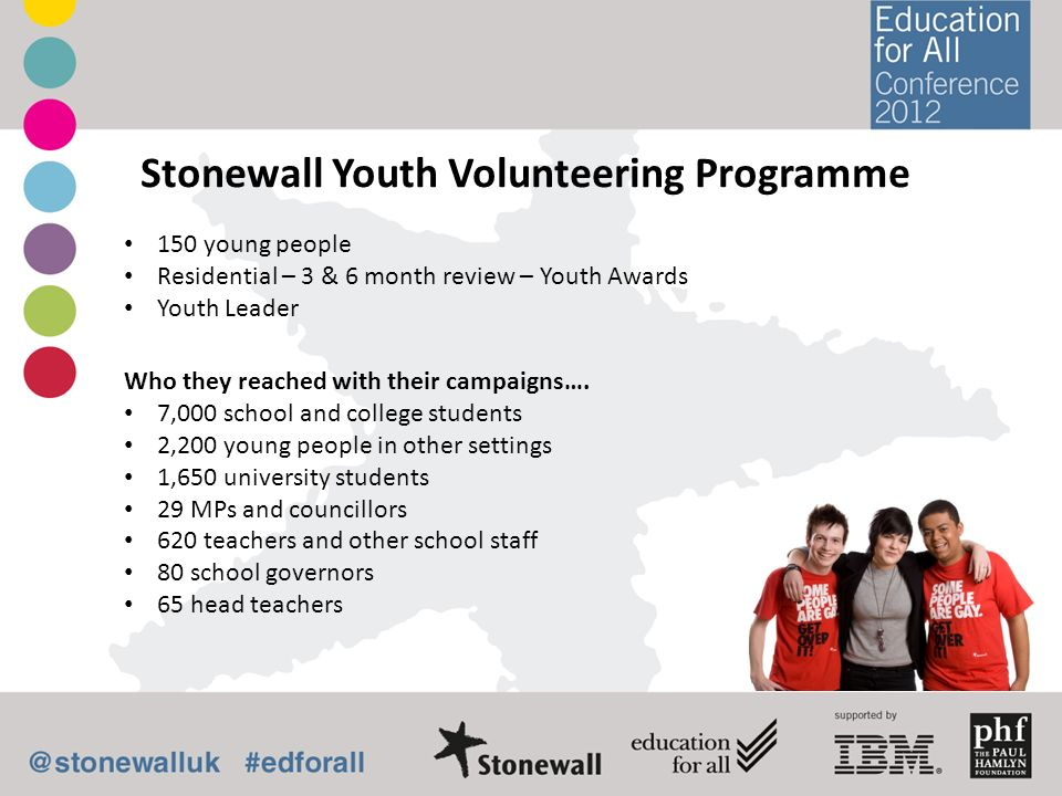 Stonewall Youth Volunteering Programme