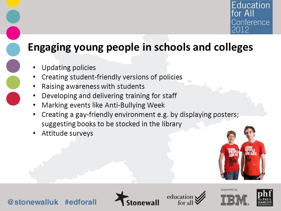 Engaging young people in schools and colleges