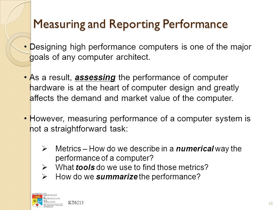 measuring and reporting performance in computer architecture pdf