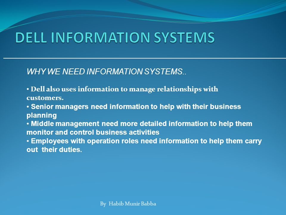 business information systems and their uses Information systems and e-business management (iseb) focuses on the core  tasks of information systems management the conceptual analysis, design, and.
