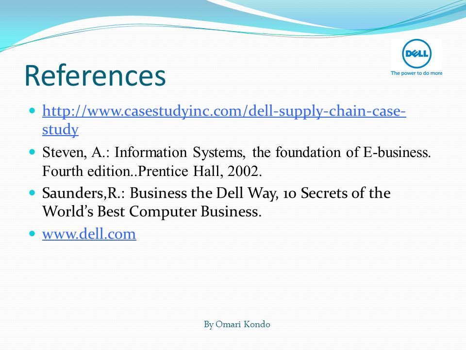 an e business case study about dell Everything about writing a business case studies the best case study service you can find at the market.