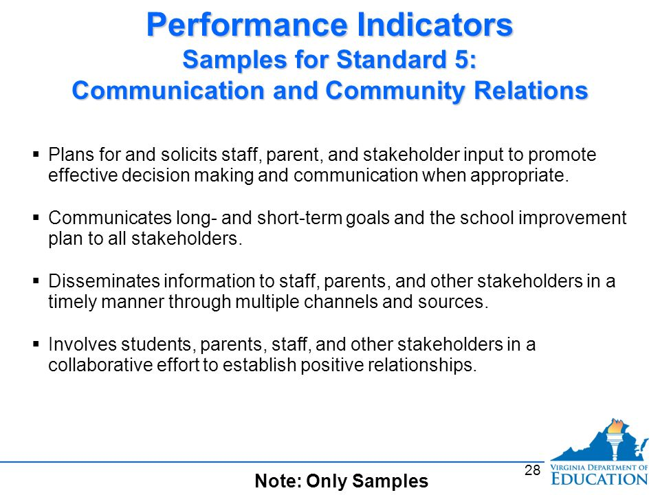 Trading standards performance indicators