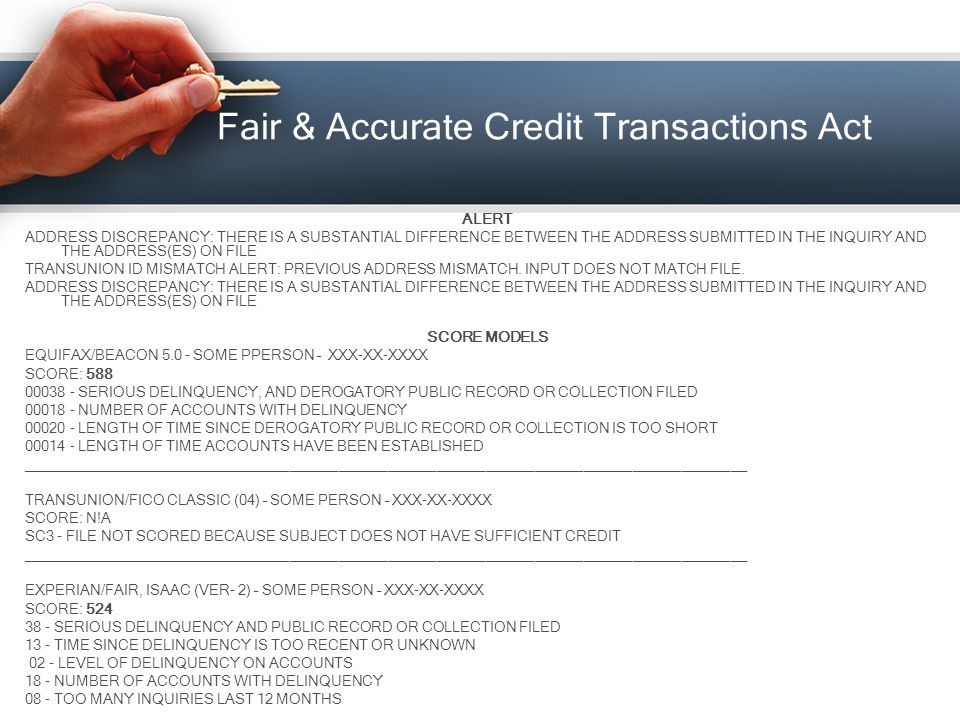 Demystifying credit repair ppt download fair accurate credit transactions act publicscrutiny Gallery