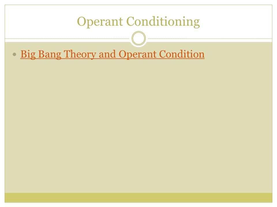 understanding operant conditioning and psychological conditioning in modifying the behavior of livin Several real-world examples of operant conditioning have already been mentioned: rewarding a child for good behavior or punishing a child for bad behavior, slot machines, and pop quizzes.