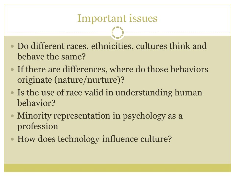 does culture influence human behavior