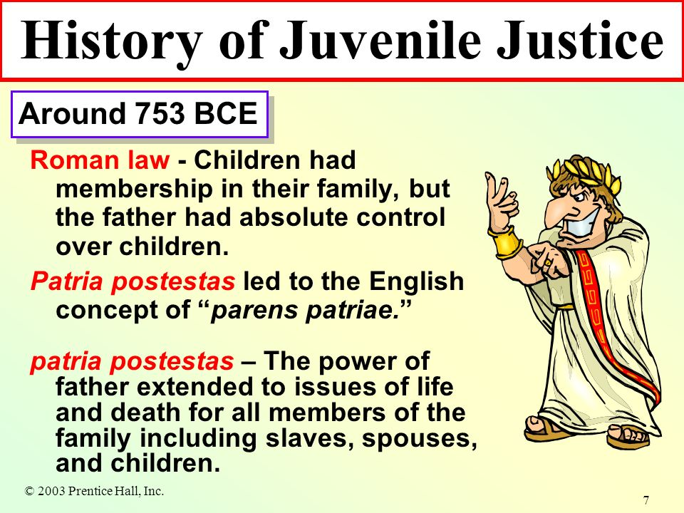 juvenile justice system evolving from parens patriae model to the due process model