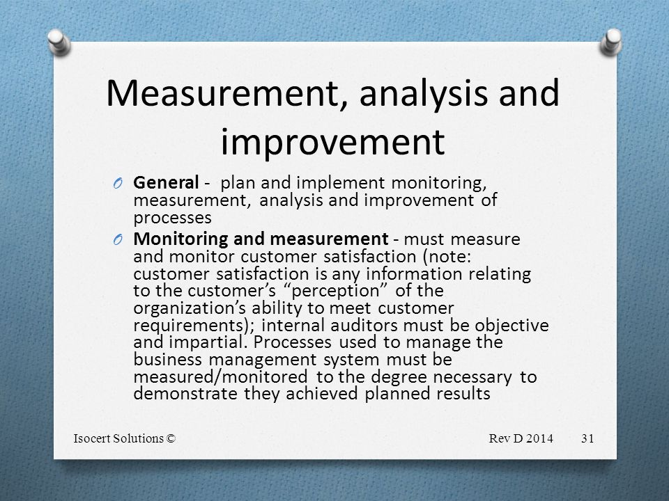 measurement analysis and improvement Measurement and analysis measurement and analysis  benchmark your environmental and social performance against sector peers and highlight areas for improvement.