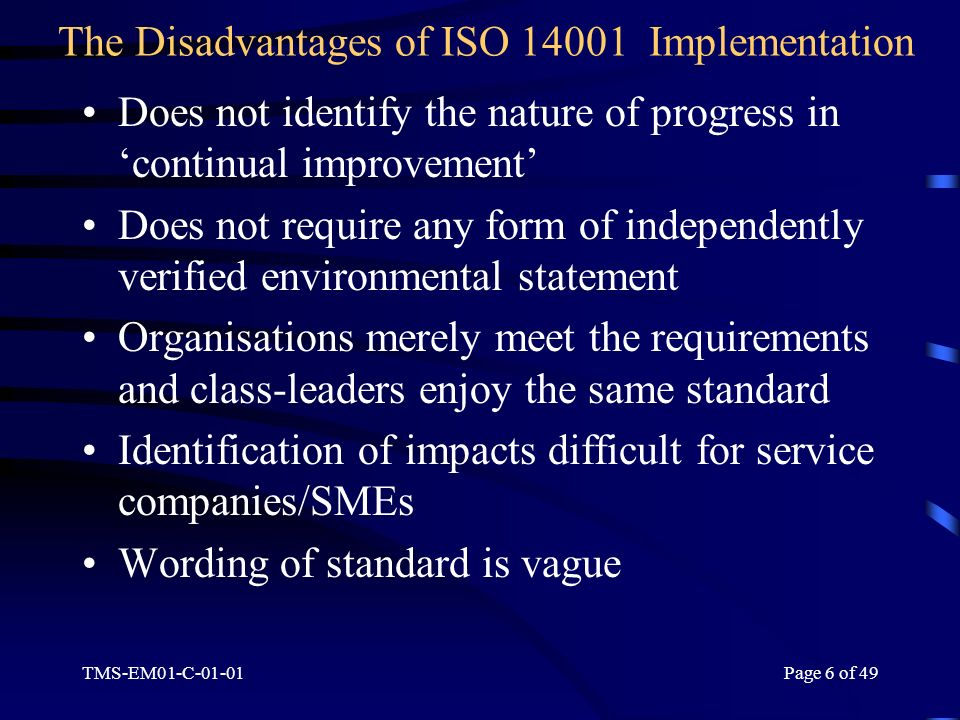 disadvantages of iso standards Iso 9001 standards the benefits of using standards using standards can offer a set of powerful business and marketing tools for organizations of all sizes.