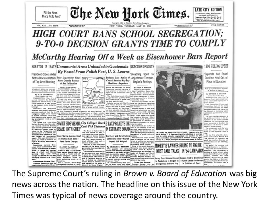 supreme court ruled against state of kansas on segregation case The segregation of topeka's public the constitutionality of the state's segregation to the kansas supreme court which decided in favor of.