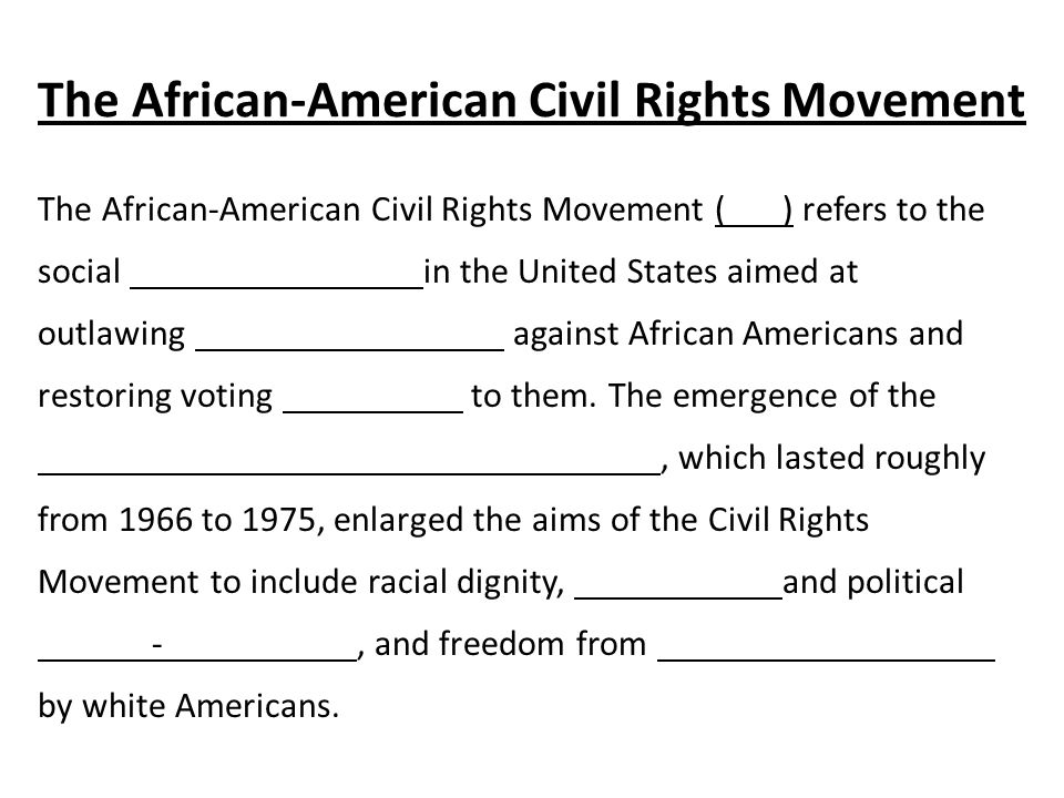 an analysis of the successes of the civil rights movement in the united states The civil rights movement successes of the civil rights and voting rights acts that changed the legal status of african-americans in the united states, the civil.