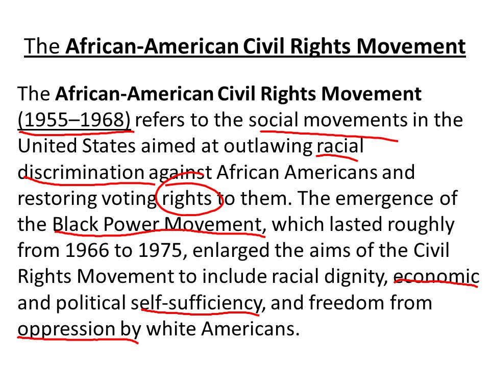 a study on the african american civil rights movement Board of education (1954) and the civil rights act of 1957, 1954-1964 the civil rights act of 1964, the voting rights act, and the fair housing act  civil rights cases great lakes region  include documents about a controversy during world war ii in which african-american civilian employees of the quartermaster depot in chicago were.