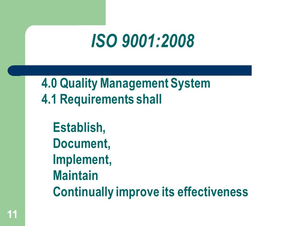 List of Mandatory Documents for ISO 9001