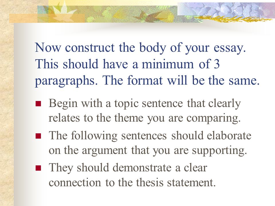 construct body expository essay Learn how to write an expository essay by having a thorough understanding of its purpose and the skill to create an construct an eloquent and informative body.