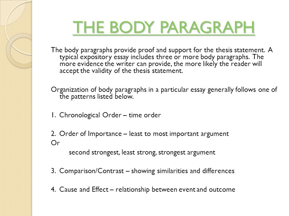 body essay work The purpose of a literary analysis essay is to carefully examine and sometimes evaluate a work of literature or an aspect of a work of essay is the body in this section you present the paragraphs (at least 3 paragraphs for a 500-750 word essay) that support your thesis statement good literary analysis essays contain an.