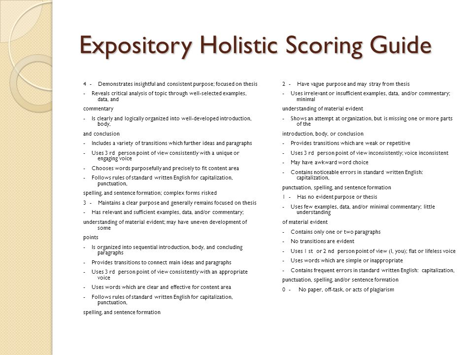 expository essay sophomore essay ppt video online  expository holistic scoring guide