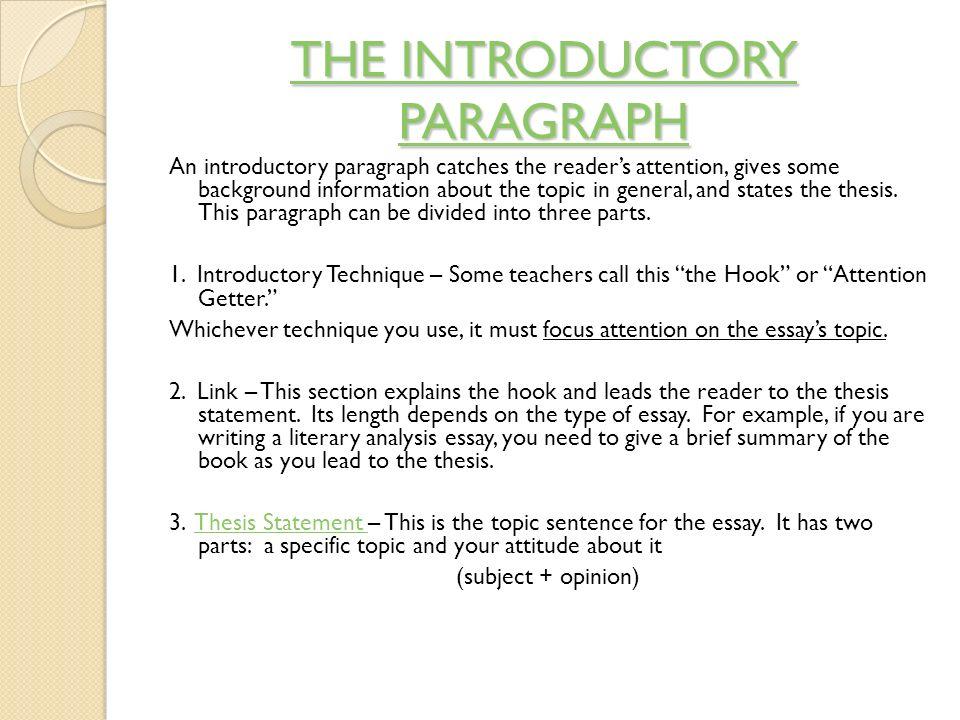 starting paragraphs for essays