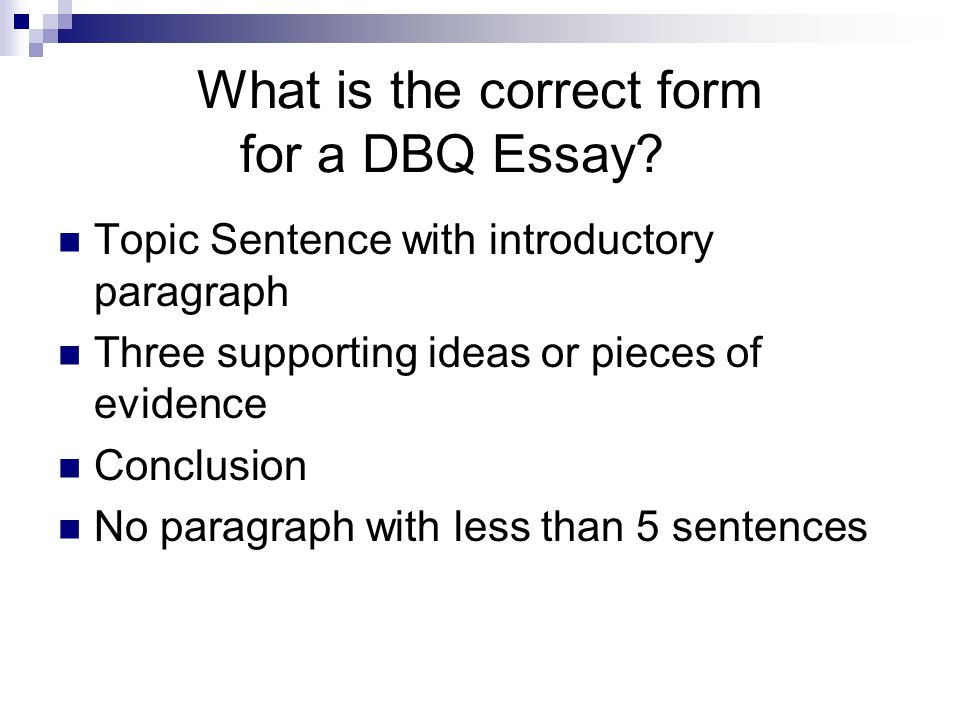 How to write a DBQ Essay - PowerPoint PPT Presentation