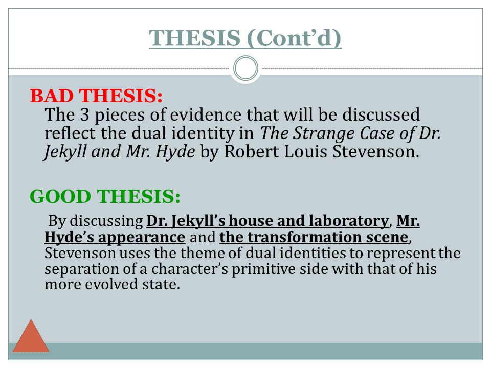thesis on dr. jekkly and mr. hyde