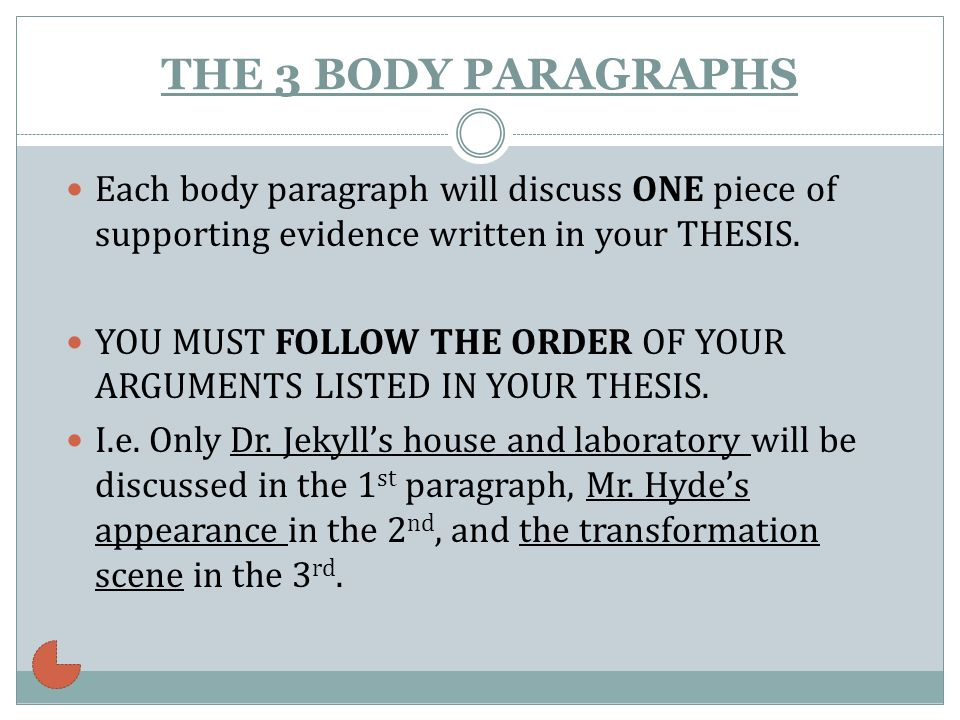 how to write a body paragraph for a literary essay